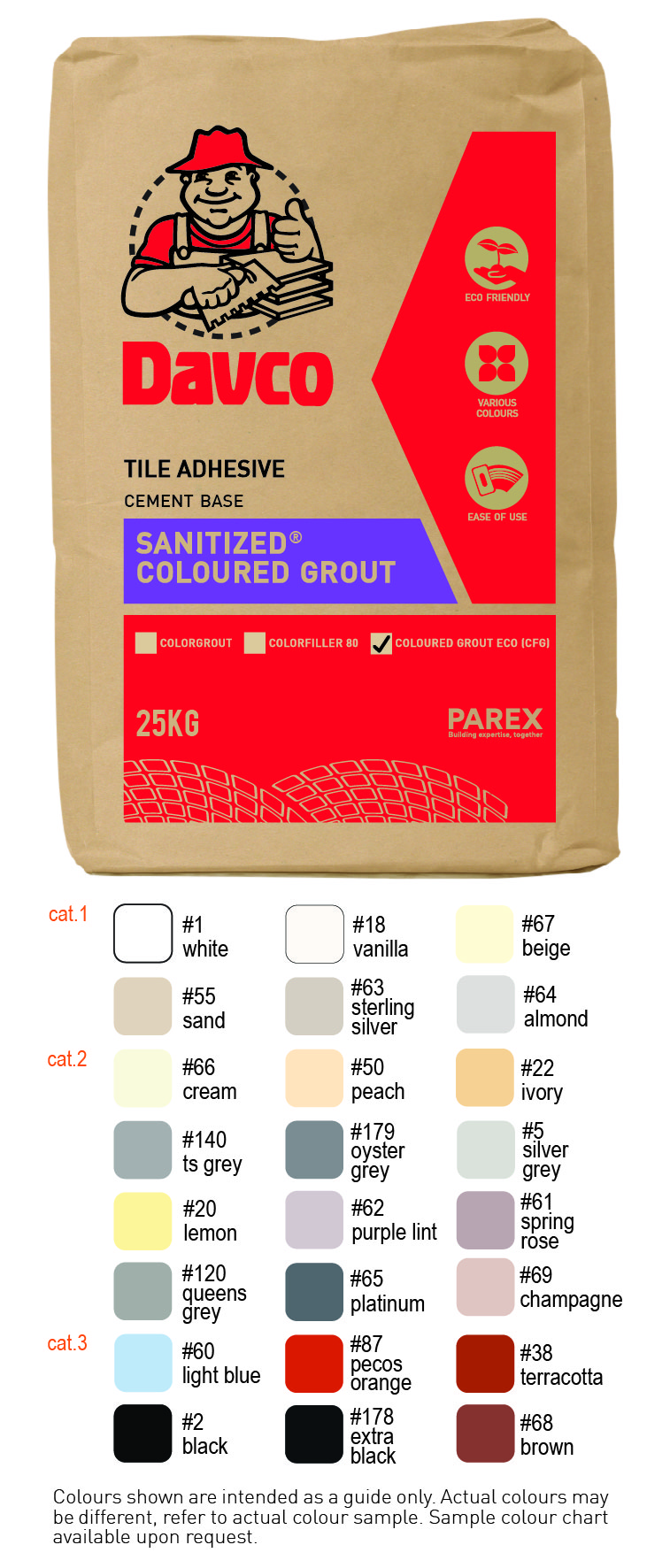 Davco Sanitized Coloured Grout ECO (CFG)
